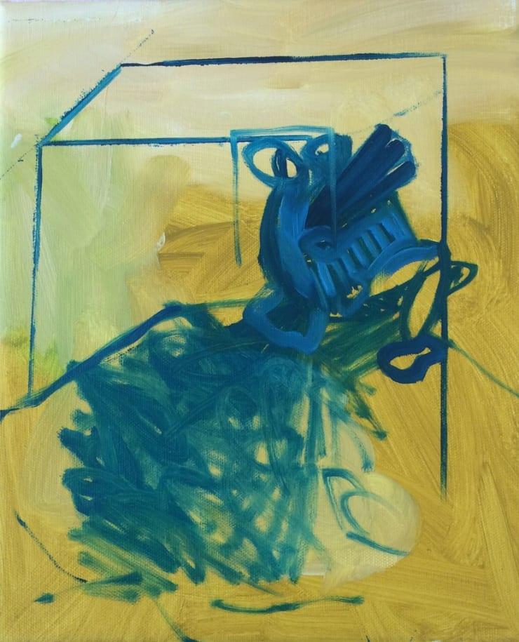 Tahnee Lonsdale Yellow 2, 2015 acrylic on canvas 11 4/5 x 10 1/5 x 4/5 in30 x 26 x 2 cm