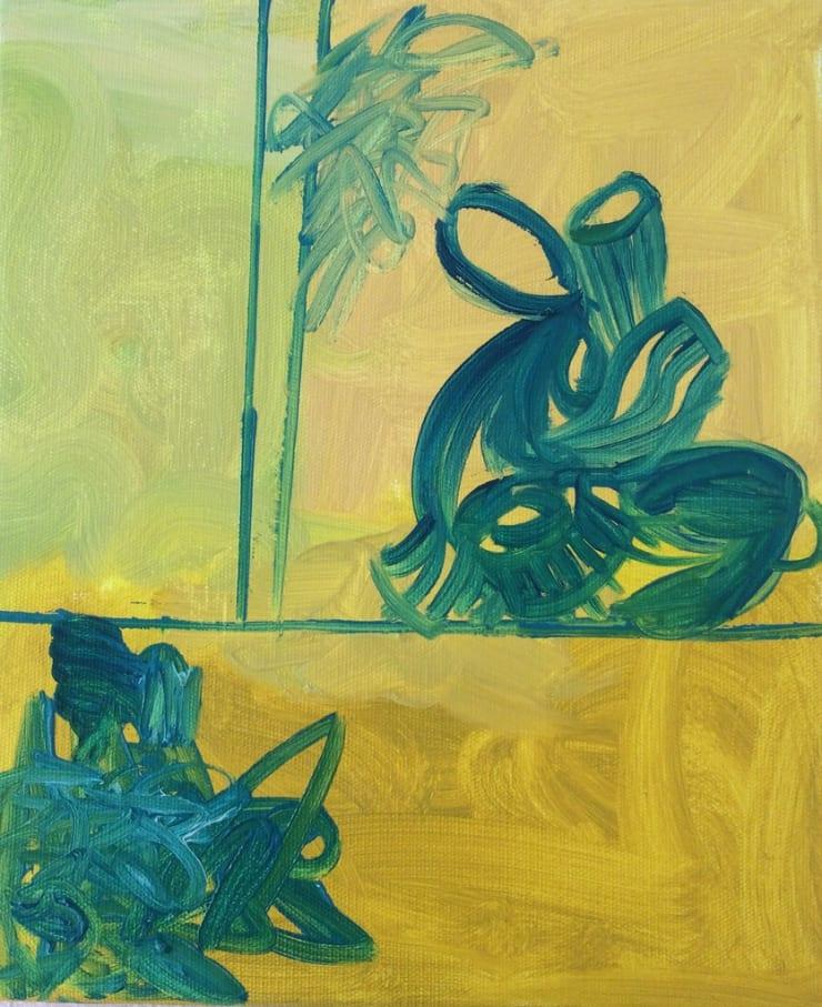 Tahnee Lonsdale Yellow 1, 2015 acrylic on canvas 11 4/5 x 10 1/5 x 4/5 in30 x 26 x 2 cm