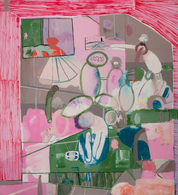 Tahnee Lonsdale Your Epoche, 2014 acrylic on linen 94 1/2 × 86 3/5 × 1 3/5 in240 × 220 × 4 cm