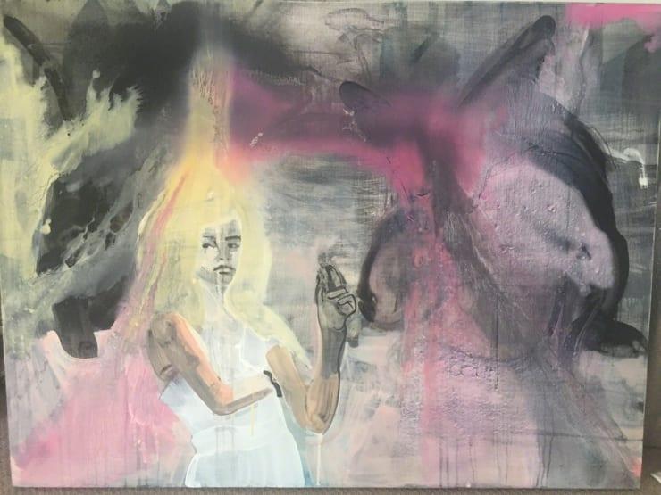 Ilona Szalay Night Smoke Oil on canvas 35 4/5 × 48 in 91 × 122 cm