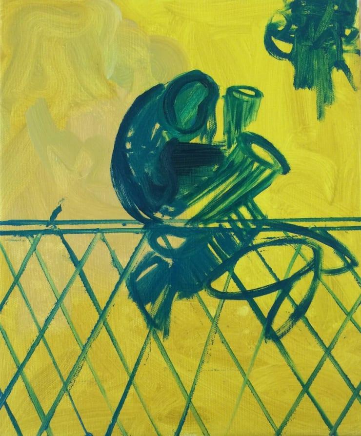 Tahnee Lonsdale Yellow 3, 2015 acrylic on canvas 11 4/5 x 10 1/5 x 4/5 in30 x 26 x 2 cm