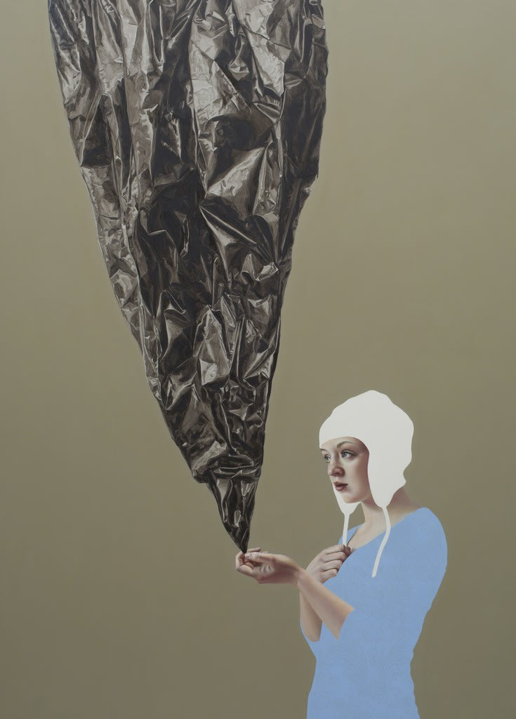 Pippa Young Chasing a spider's shadow, 2016 Oil on cradled panel 49 1/5 × 35 2/5 in 125 × 90 cm