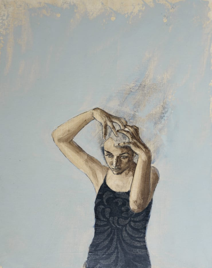 Pippa Young Study for: Allegory, 2016 Oil on primed card 19 3/10 × 15 7/10 in 49 × 40 cm