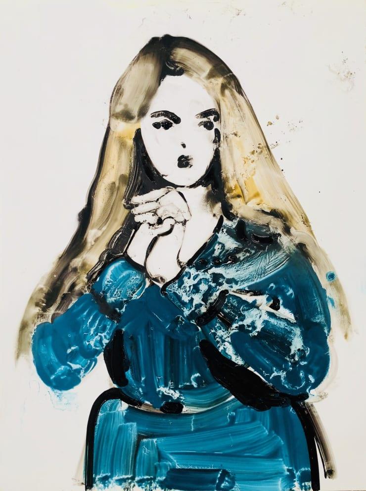 Ilona Szalay Untitled, 2018 Oil on aluminium 100 x 120cm