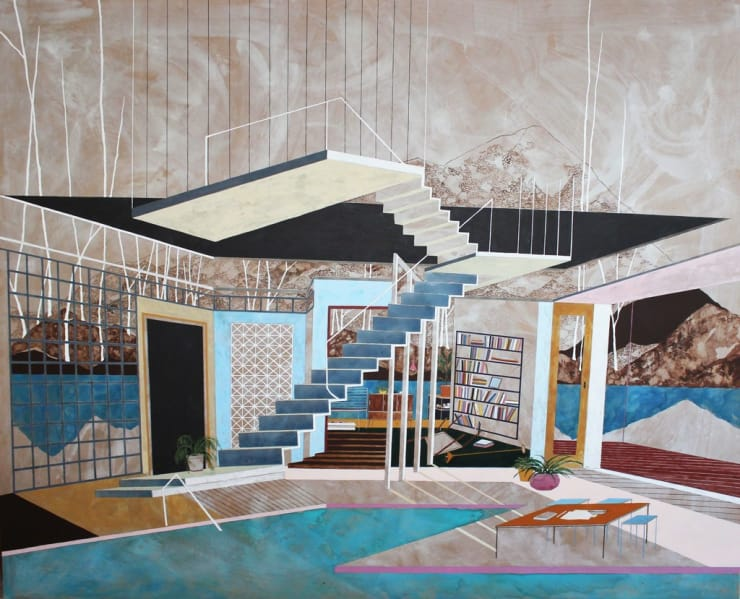 Charlotte Keates Suspended Observation, 2016 Oil and acrylic on board 180 × 220 × 4.5 cm