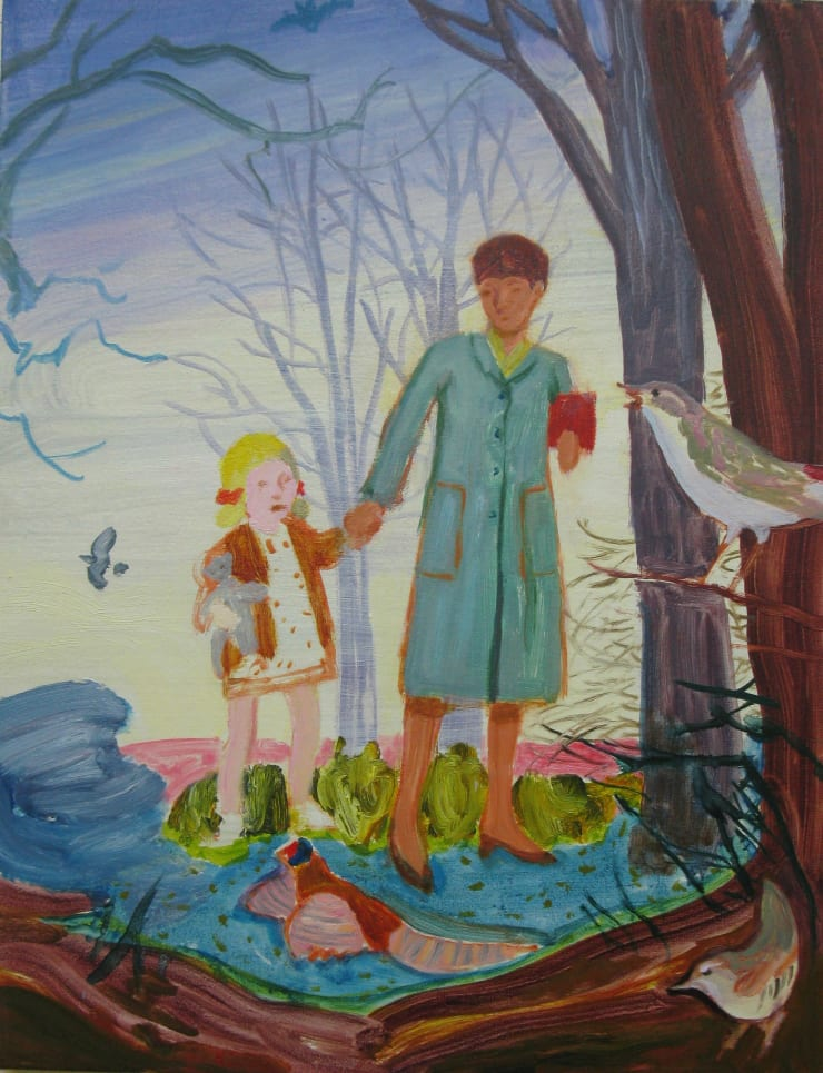 Eleanor Moreton Walking, 2019 Oil on canvas 45 x 35 cm