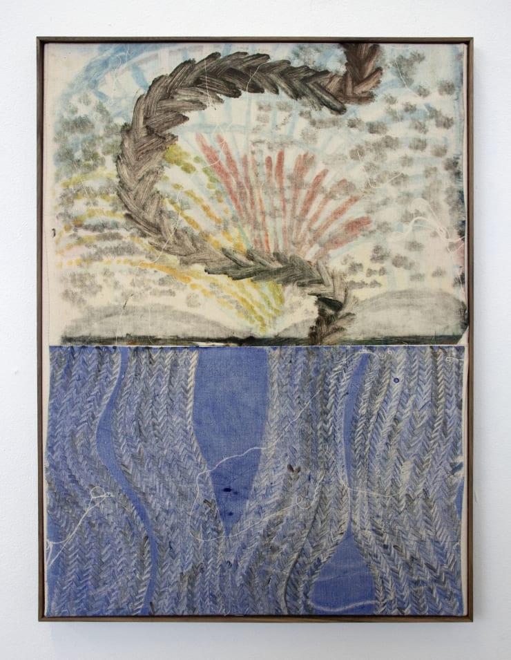 Aimée Parrott Doggerland, 2019 Monotype, ink and cotton on calico 55 x 40.5 cm
