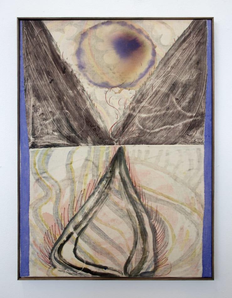 Aimée Parrott Aureole, 2019 Monotype, ink and cotton on calico 55 x 40.5 cm