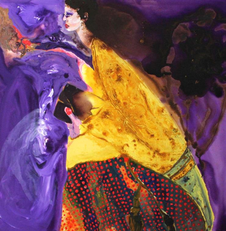 Rhiannon Salisbury Wayfarer, 2018 acrylic on canvas 100 x 100cm
