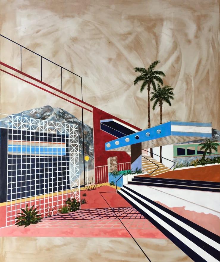 Charlotte Keates Breezeway, 2017 Oil and acrylic on board 120 × 100 cm