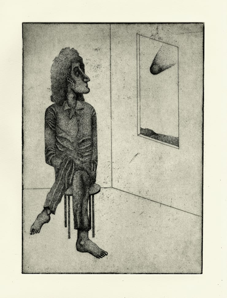 Thomas Adam Stargazer, 2018 Etching, Edition of 10 25.5 x 32.5 cm unframed 35.5 x 43.5 cm framed