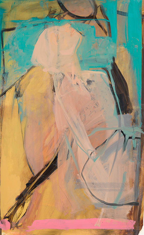 Elaine Speirs  Miss July, 2017  Oil on board  43 3/10 × 26 3/5 × 1 3/5 in  110 × 67.5 × 4 cm
