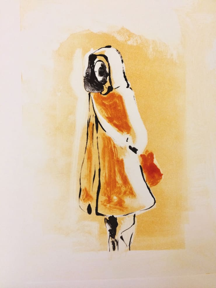 Shelly Tregoning Hood, 2019 Monoprint 34 x 27 cm