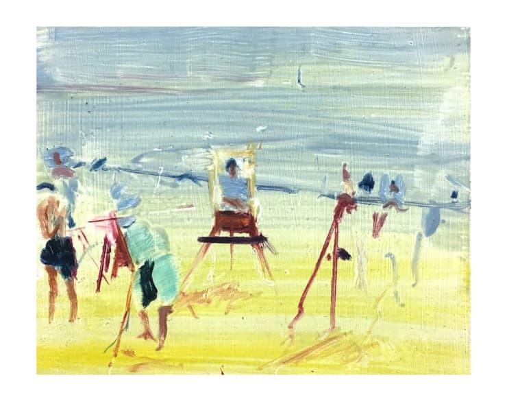 Sam Drake New England Scene Painters, 2018 Oil on panel 25.4 x 20.3 cm