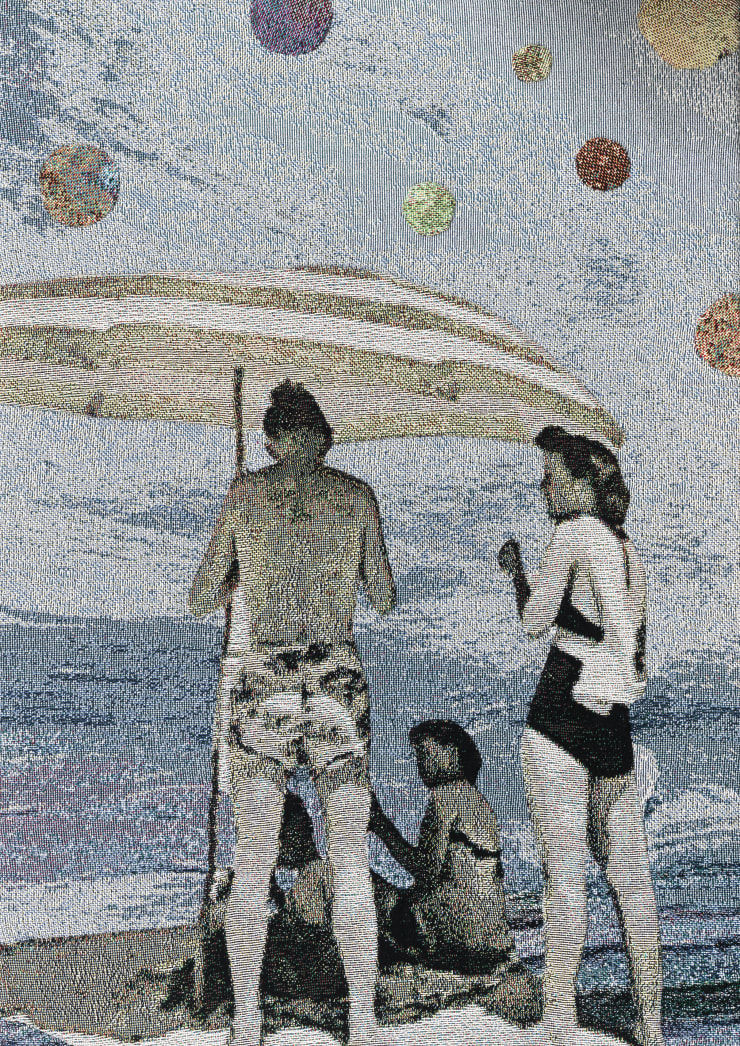 Elizabeth Stewart Beach Orbs, 2019 Tapestry, digitally woven and hand appliquéd cotton 87 x 63 cm