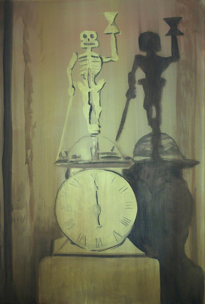 Markus Vater Die-uhr acrylic on canvas 27 3/5 × 15 7/10 in 70 × 40 cm