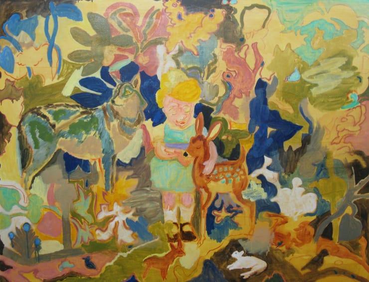 Eleanor Moreton Sacred World 2, 2019 Oil on canvas 100 x 130 cm