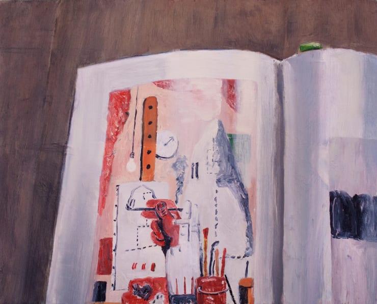 Lara Davies Guston's 'The Studio' in the studio, 2019 oil on board 33 x 40 cm
