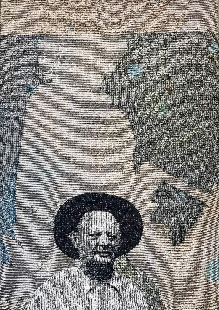 Elizabeth Stewart Black Hat , 2019 Tapestry, digitally woven and hand appliquéd cotton 87 x 63 cm
