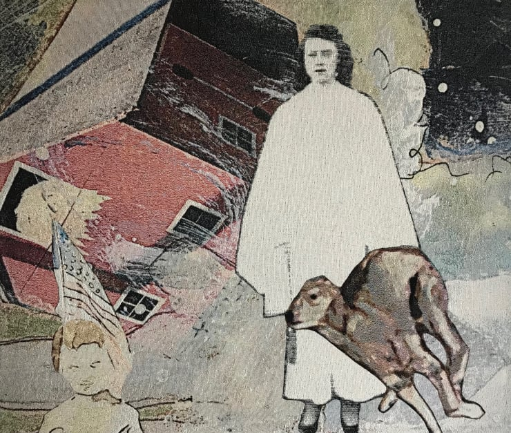 Elizabeth Stewart Barnstorm, 2018 Tapestry, digitally woven and hand appliquéd cotton 125 x 148 cm