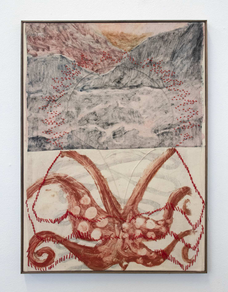 Aimée Parrott Kanaloa, 2019 Monotype, ink and cotton on calico 55 x 40.5 cm