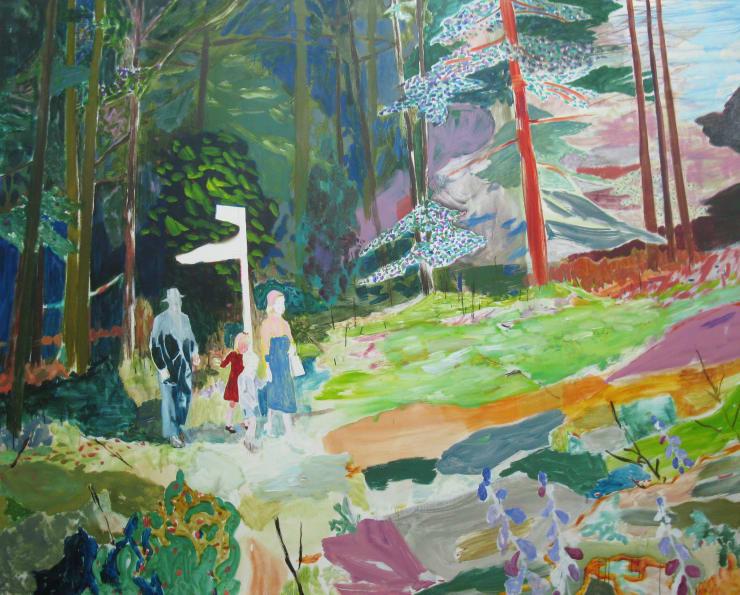 Eleanor Moreton The Way, 2017 Oil on canvas 92 x 122 cm