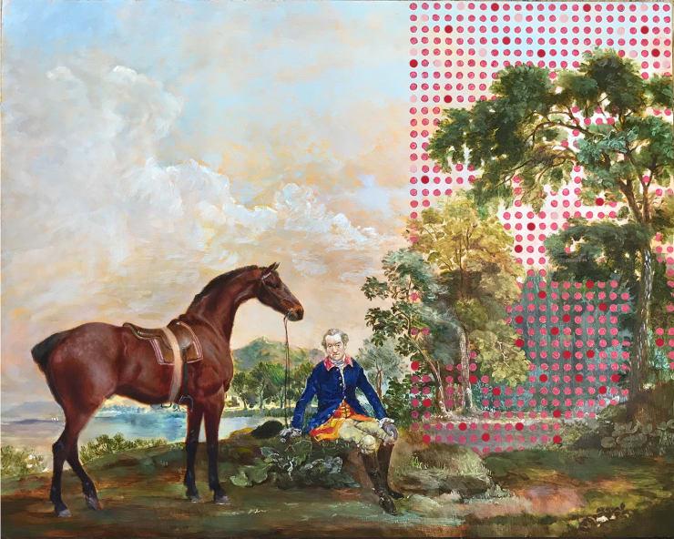 Morwenna Morrison Future intimations Oil on panel 40 x 50 cm