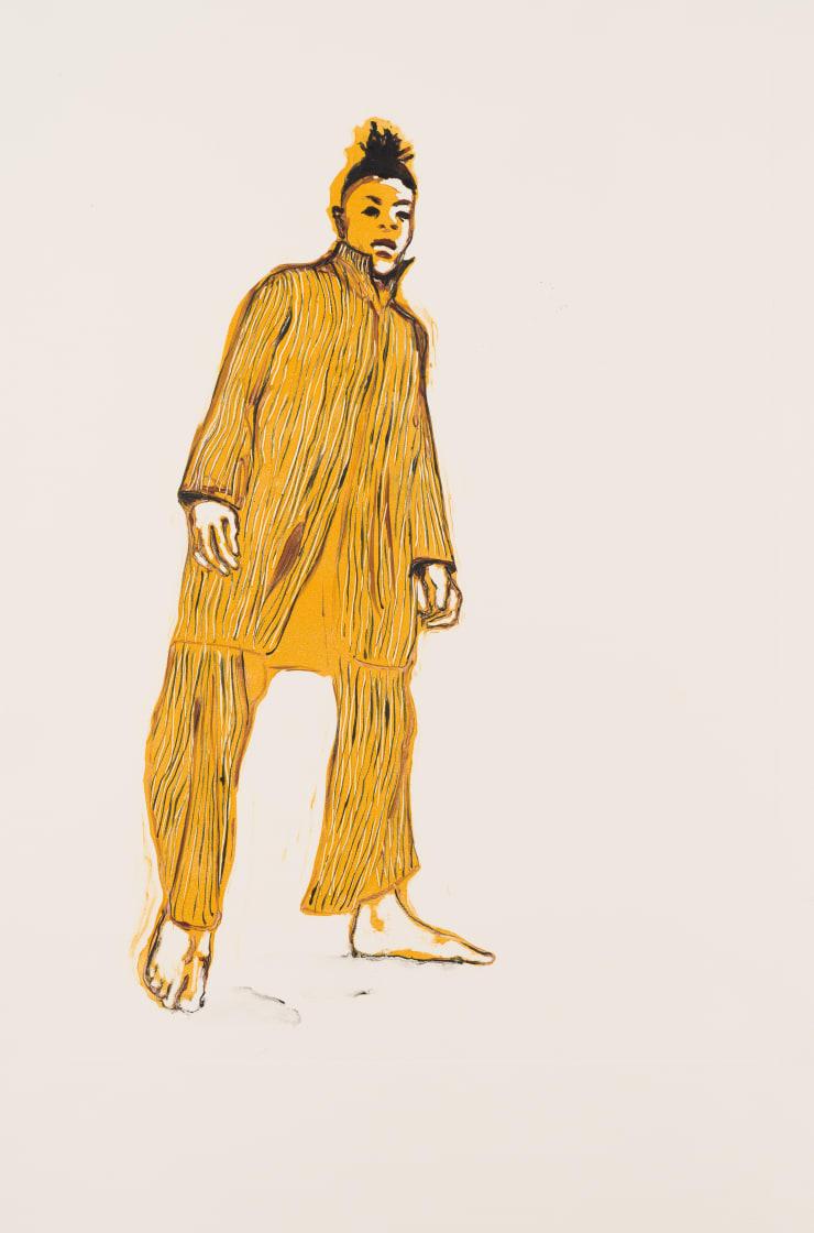 Shelly Tregoning Weave an Impression, 2019 Monoprint 53.5 x 38 cm