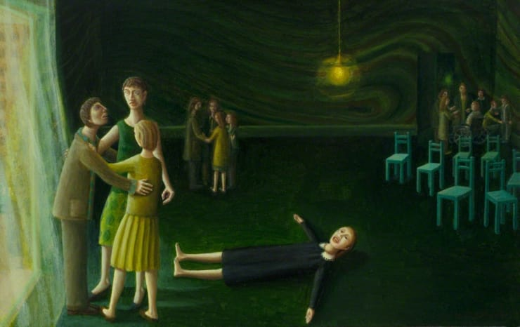 Helen Flockhart Green Room, 2017 oil on board 7 1/2 × 11 4/5 × 4/5 in 19 × 30 × 2 cm