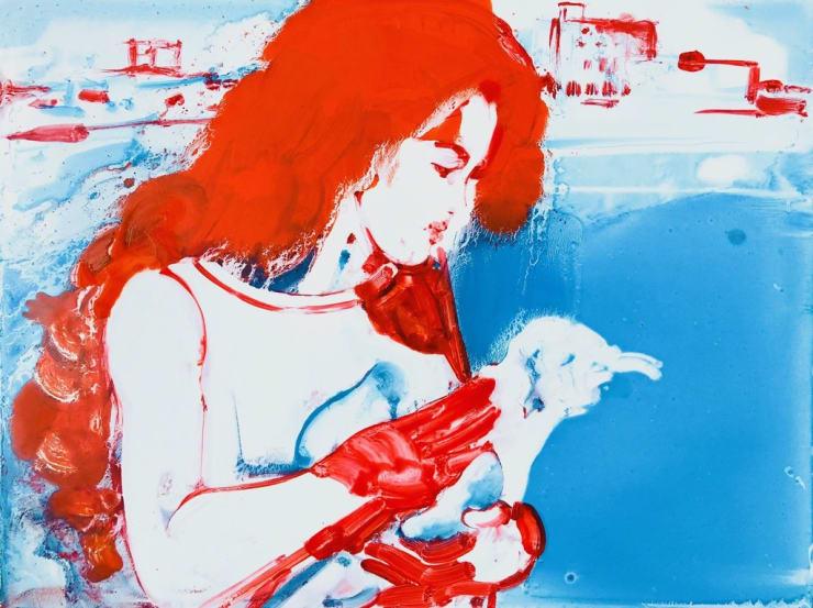 Ilona Szalay Santa Monica, 2018 Oil on aluminium 60 x 70 cm