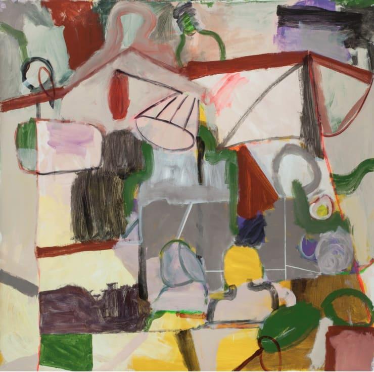 Tahnee Lonsdale Totem, 2015 Acrylic on paper 153 × 153 × 4 cm
