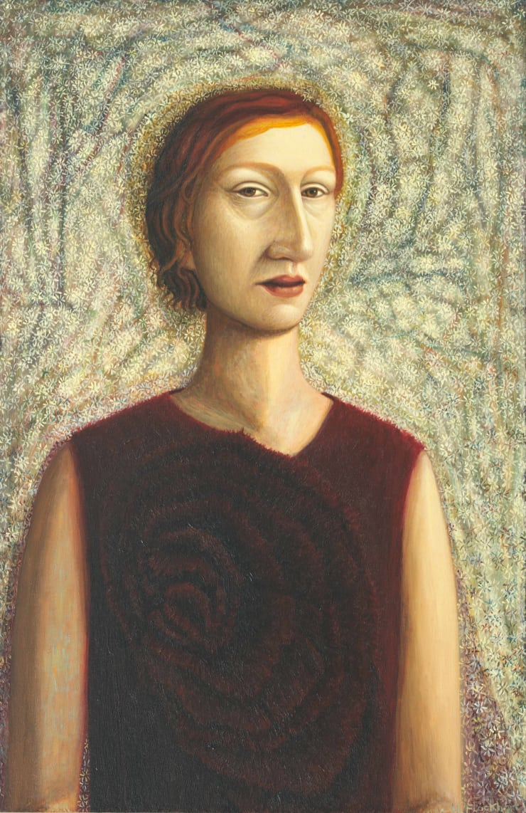 Helen Flockhart Red Bodice, 2018 Oil on board 40 x 26 cm