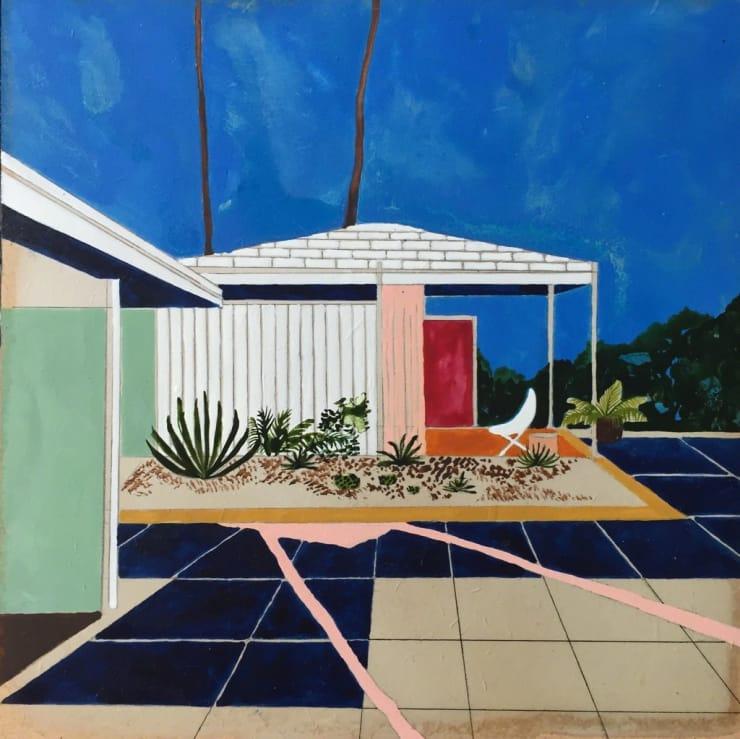 Charlotte Keates Secret Passageway, 2017 Oil and acrylic on panel 22 x 22 cm