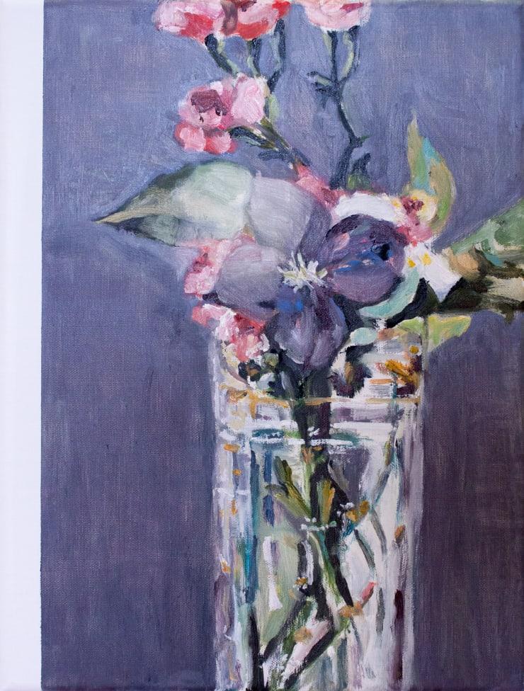 Lara Davies 'Oeillets et Clematites dans un Vase de Cristal' from 'The Last Flowers of Manet' 1, 2019 oil on linen 40 x 30 cm