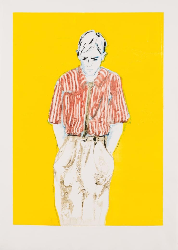 Shelly Tregoning Taking Solace, 2019 Monoprint 53.5 x 38 cm