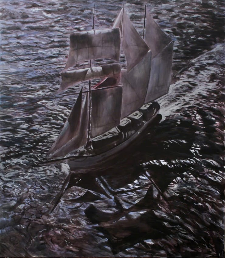 Markus Vater The Ship acrylic on canvas 104 3/10 × 92 1/2 in 265 × 235 cm
