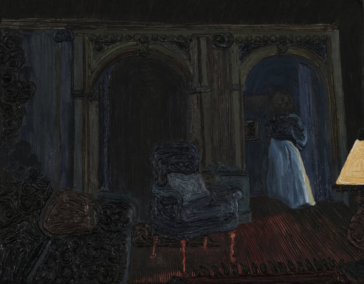 Anna Rocke Untitled, 2019 Oil and varnish on wood 15.5 x 20 cm