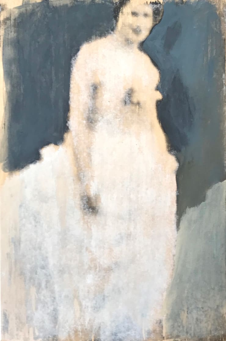 Elizabeth Stewart Mary's Dress, 2014 Mixed media on board 45 x 30 cm