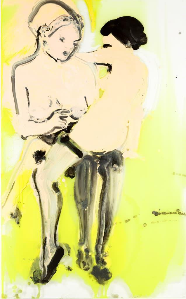 Ilona Szalay Yellow, 2014 Oil on glass 106 × 150 × 3 cm