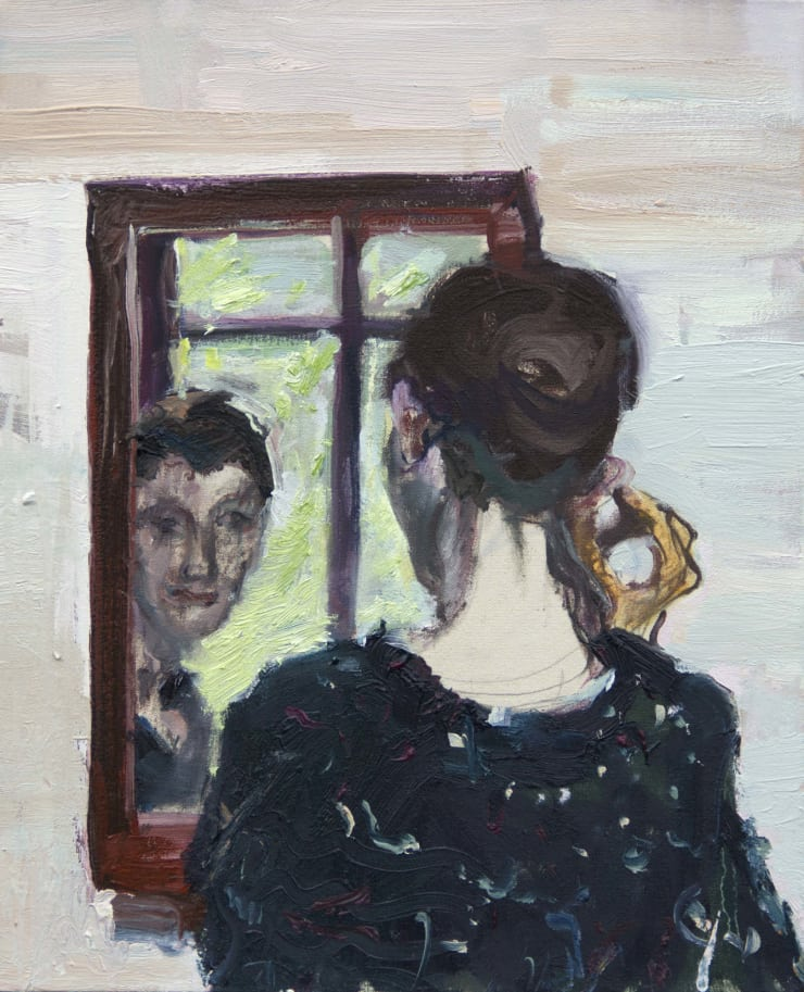 Blair McLaughlin Mirror II Oil on canvas 45 × 35 cm