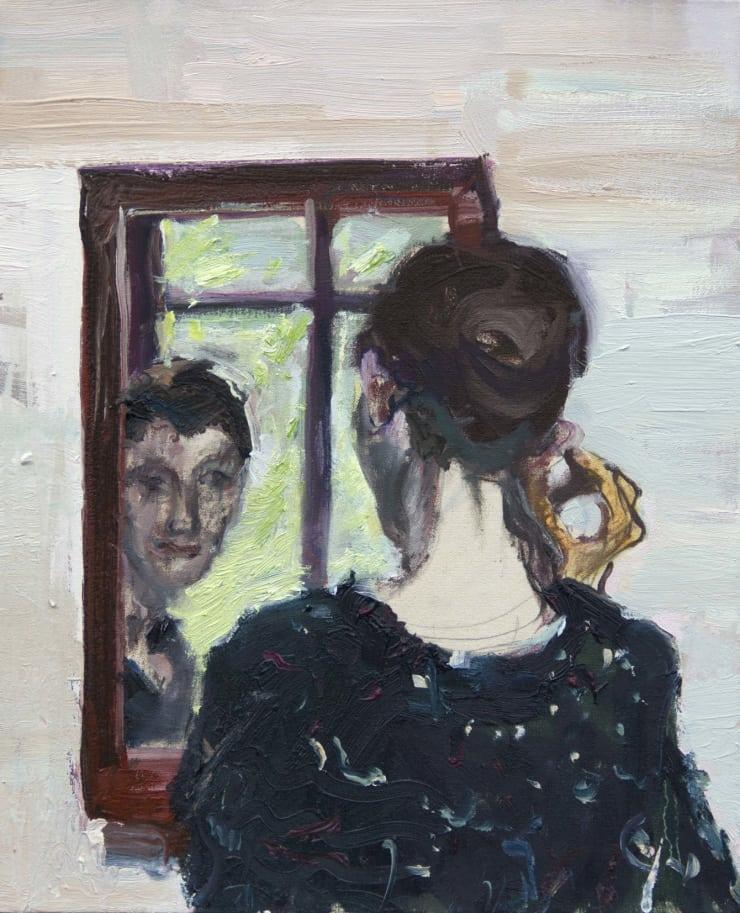 Blair McLaughlin Mirror II Oil on canvas 17 7/10 × 13 4/5 in 45 × 35 cm