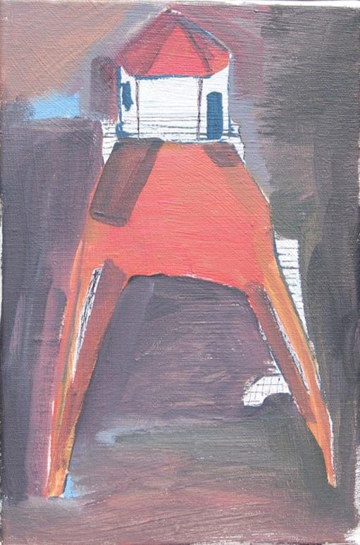 Isaac Aldridge  Low Light House, 2018  Oil on canvas  30 x 20 cm