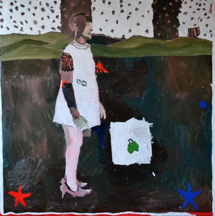 Ed Burkes The Pine, 2017 Oil on canvas 55 1/10 × 55 1/10 in 140 × 140 cm