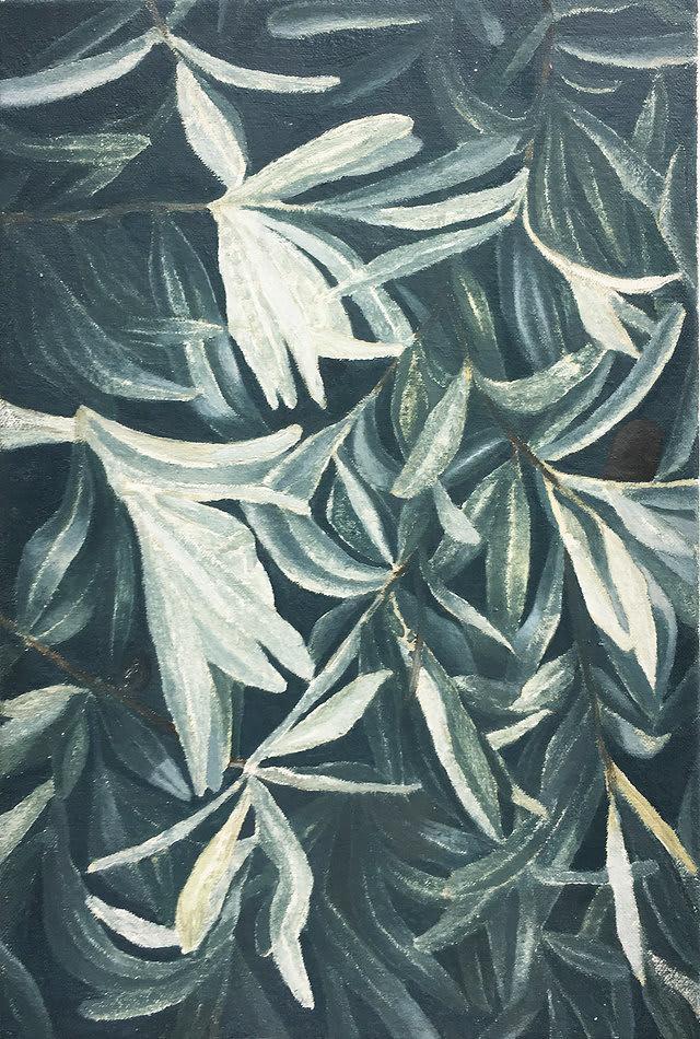 Rafal Topolewski I and I oil on canvas 11 4/5 × 7 9/10 in 30 × 20 cm