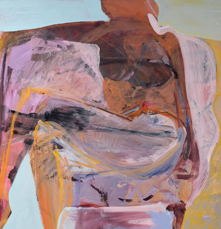 Elaine Speirs  Pink Chair, 2017  Oil on board  29 1/2 × 28 7/10 in  75 × 73 cm