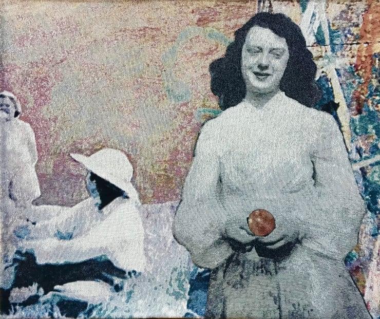 Elizabeth Stewart In Her Hands, 2018 Tapestry, digitally woven and hand appliquéd cotton 125 x 148 cm