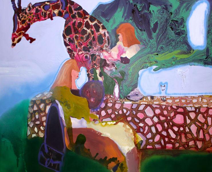 Rhiannon Salisbury Elevate Your Station, 2018 acrylic on canvas 160 x 200 cm