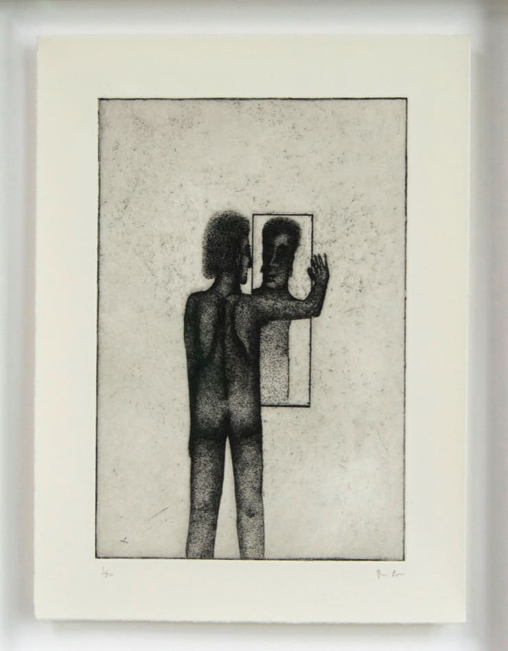 Thomas Adam Me , 2018 Etching, Edition of 50 27 x 21 cm unframed 35 x 28.5 cm framed