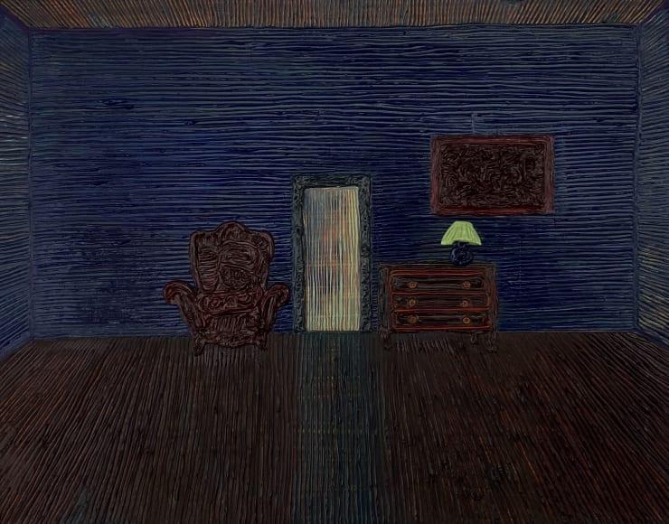 Anna Rocke Untitled, 2019 Oil and varnish on wood 20 x 25 cm