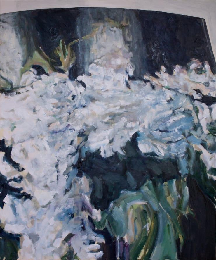 Lara Davies Detail of 'Lilas Blancs dans un Vase de Verre' from 'The Last Flowers of Manet', 2019 oil on canvas 120 x 100 cm